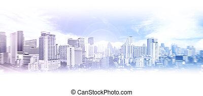 事務, 城市, 背景
