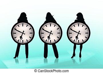 事務, 時間