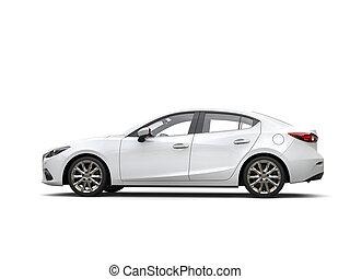 事務, 汽車, 清楚, 現代, -, 快, 白色, 側視圖