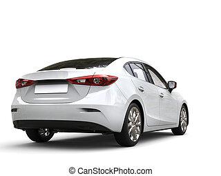 事務, 汽車, 清楚, 現代, -, 背, 快, 白色, 看法
