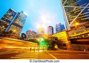 事務, 現代, 交通, 城市, 形跡, 光