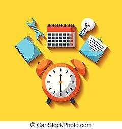 事務, 鐘, 警報, 工作, 效率, 時間, 工具