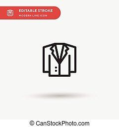 事務, element., 完美, 圖象, 网, 符號, ui, 設計, 短上衣, stroke., 簡單, 項目, editable, 現代, 流動, 矢量, pictogram, 插圖, 樣板, 你, 顏色, icon.