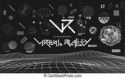 事実上, collection., cyberpunk, (vr), glitch, 現実