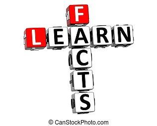事実, クロスワードパズル, 3d, 学びなさい