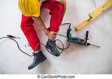 ∥, 事故, の, a, 人, 労働者, ∥において∥, ∥, 建設, サイト。, 上, ビュー。