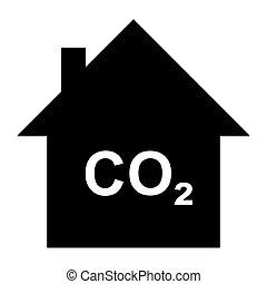 二酸化物, 家, 炭素
