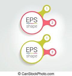 二, 元素, 方案, 圖形, chart., infographic, template.