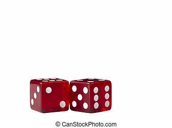 二, 红, 骰子