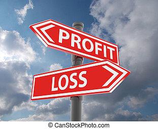 二, 路標, -, 利潤, 或者, 損失, 選擇