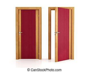 二, 雅致, 木制的門