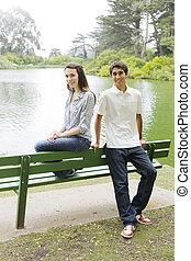 二, 青少年, 在公園