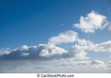 云霧, 在, 藍色的天空