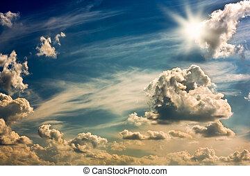 云霧, 天空