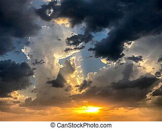 云霧, 震動, 天空