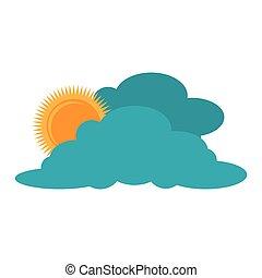 云, 太阳, 天气, 天空