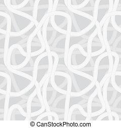 互鎖, 圖案, 連續, -, seamless, 形狀, 矢量, 背景, 面條, 相似