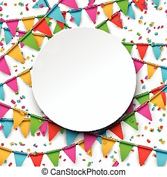 五彩纸屑, 背景。, 庆祝