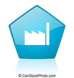 五角大樓, 工業, 网, 有光澤, 藍色, 圖象