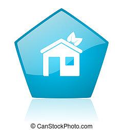 五角大樓, 网, 有光澤, 藍色, 圖象, 家