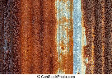 亜鉛, 古い, シート, 背景, レトロ