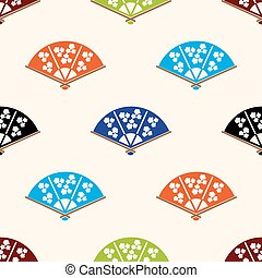亞洲人, 手愛好者, 各種各樣, 顏色, 集合, seamless, 圖案, eps10