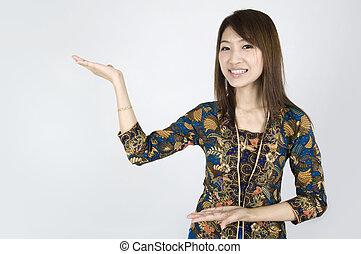 亞洲的女孩
