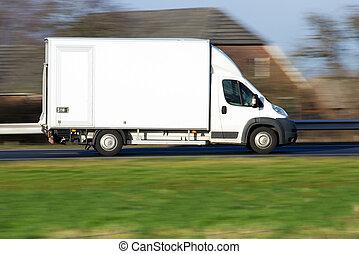 交付有蓬貨車