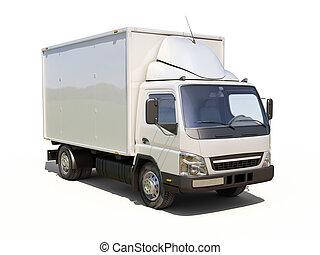 交付, 商業, 白色, 卡車