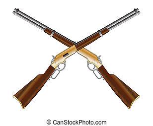 交差させる, ライフル銃