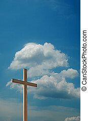交差点, と青, 空, ∥で∥, 雲