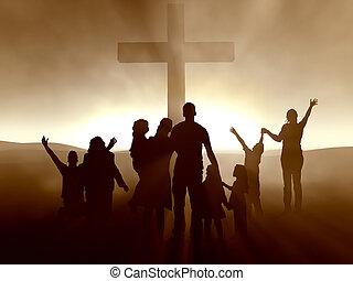 交差点, イエス・キリスト, 人々