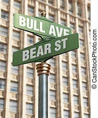 交差点, 市場, 株
