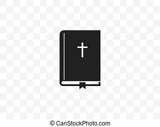 交差点, design., 本, ベクトル, 聖書, イラスト, 平ら, icon.