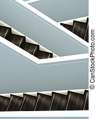 交差, 内部, 抽象的, 打撃, 階段