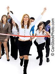 交差, 線, 終わり, businesspeople