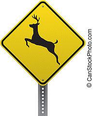 交差, 鹿, 印