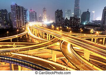 交換, 上海