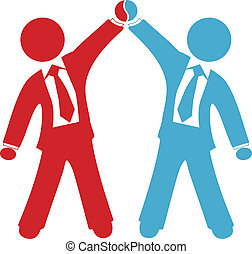 交易, 商業界人士, 協議, 成功, 慶祝