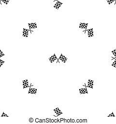 交替變換, 參加比賽, 旗, 圖案, seamless, 黑色