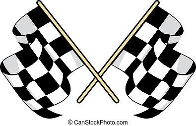 交替變換, 旗, 圖象, 為, motorsports, 設計