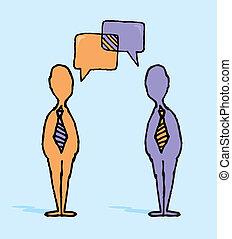 交渉, ビジネス, /, 対話, ビジネスマン