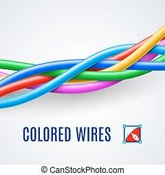 交織, 電線, 塑料