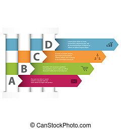 交織, infographic, 設計, 樣板