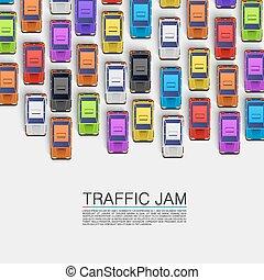 交通堵塞, 在道路上