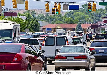 交通堵塞, 高壓封鎖