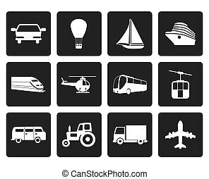 交通機関, そして, 旅行 アイコン