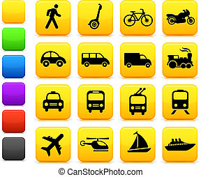 交通機関, アイコン, 要素を設計しなさい