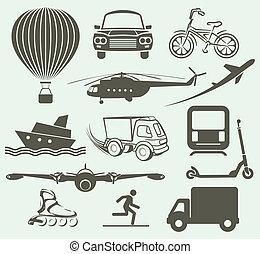 交通機関, 様々, 手段