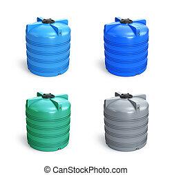 交通機関, 蓄積, 乾きなさい, オイル, 液体, 3d, chemicals., 容器, 貯蔵, イラスト, 井戸, プロダクト, 様々, 食物